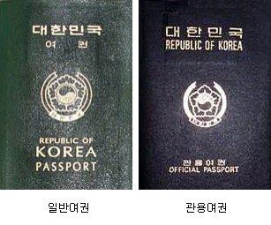 일반여권과 관용여권